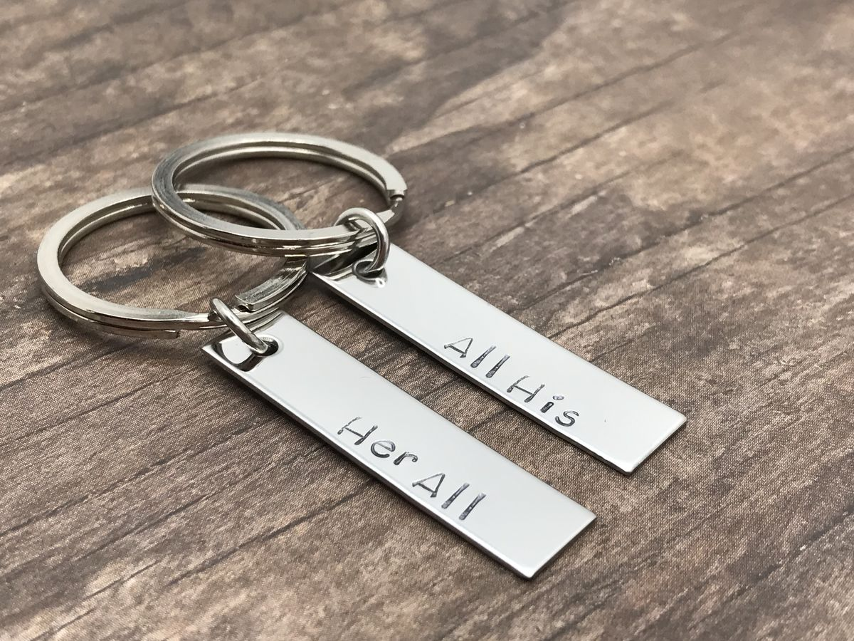 All His Her All Couples Keychains, Boyfriend GIrlfriend Gift - product images  of