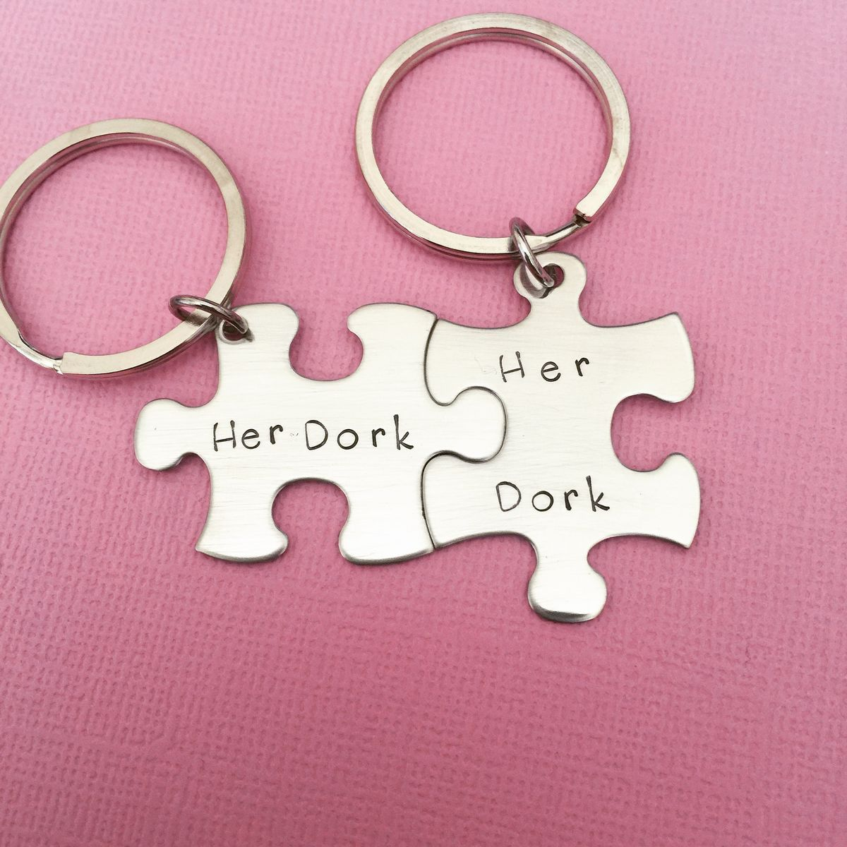 Her Dork Her Dork, Couples Keychains, LGBT Gift - product images  of