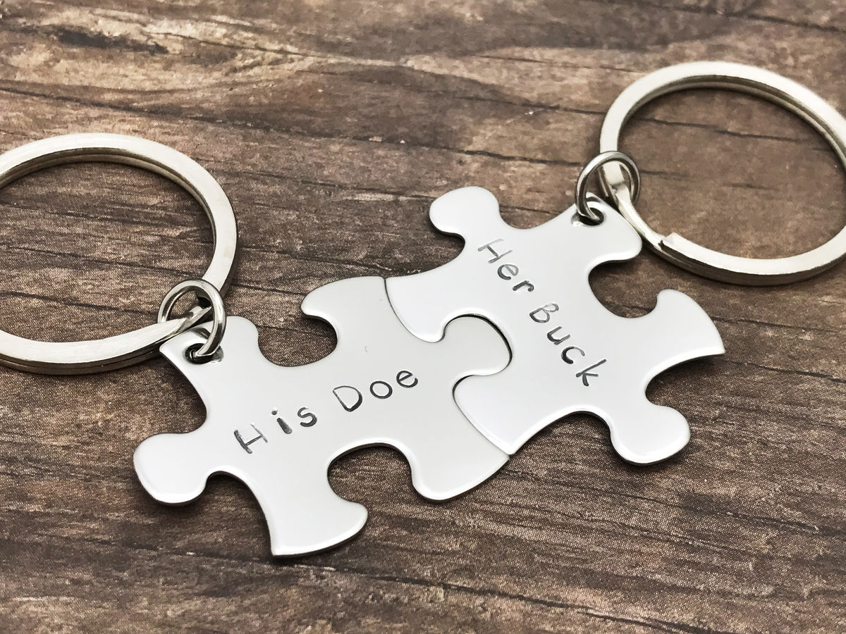 His Doe Her Buck Couples Keychains - product image