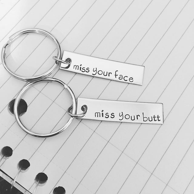 Miss Your Face, Miss your butt keychains, Bar keychains for LDR couples - product images  of