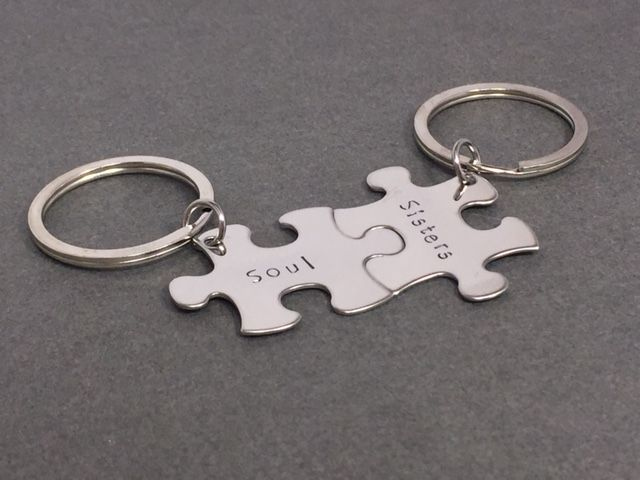 Soul Sisters, Set of Keychains for Best Friends and Sisters - product images  of