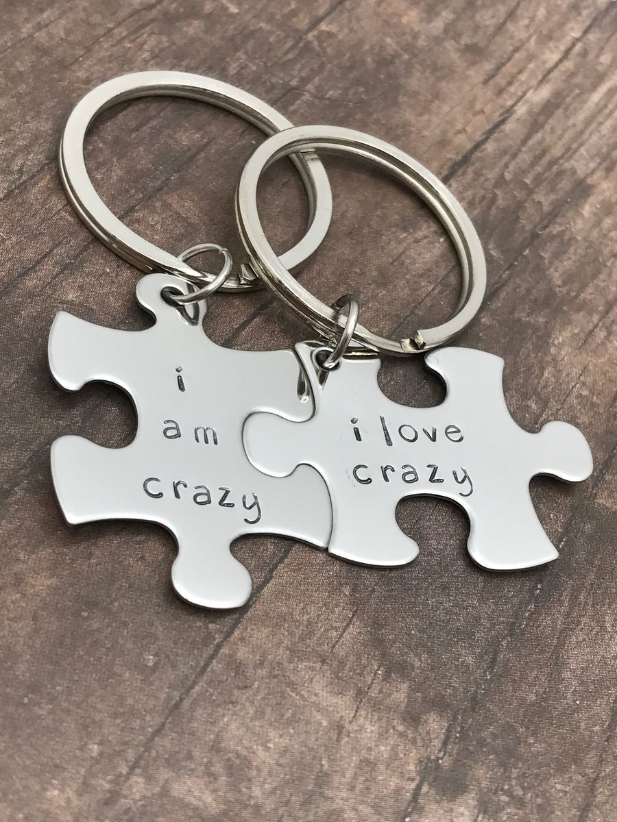 I am crazy I love crazy, Couples Keychains - product images  of