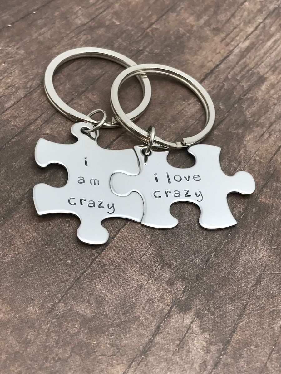 I am crazy I love crazy, Couples Keychains - product image