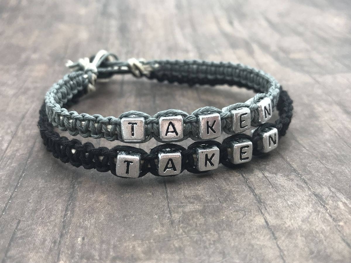 Taken Hemp Bracelets for Couples, Couples Bracelets - product image