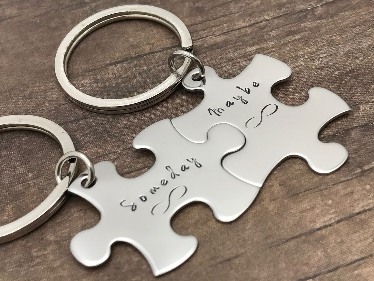Someday Maybe Infinity Keychains for Couples - product images  of