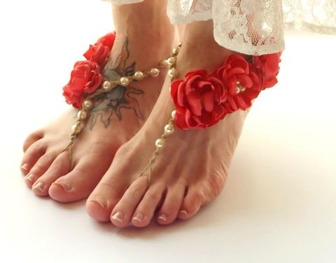 Beach,wedding,sandals,,barefoot,jewelry,with,flowers,beach-wedding-sandals, wedding-sandals, barefoot-sandals, barefoot-jewelry, foot-jewelry, bridesmaid-sandals, beach-barefoot-jewelry, flower-barefoot-sandals, coral-barefoot-sandals