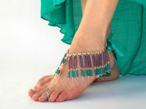 Gypsy,Beaded,Fringe,Barefoot,Sandals,in,Purple,Teal,and,Gold,Gypsy-sandals, free-spirit, free-people, barefoot-sandals, fringe-sandals, beaded-fringe, beaded-sandals, belly-dance-costume, barefoot-dancing, purple-fringe, gold-fringe, teal-fringe, mardi-gras-beads, fringy-shoes, barefoot-shoes, beach-shoes, barefoot