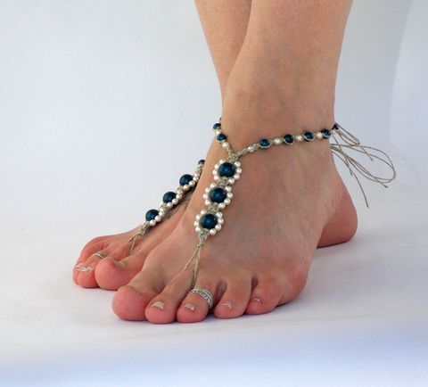 Triple,Pearl,Barefoot,Sandals,-,Color,Options,wedding-barefoot-sandals, petrol, sandals-for-brides, bride-to-be, beach-bride, bridal-footwear, toe-thong, soleless-sandals, hippie-shoes, boho-wedding, barefoot-sandals, barefoot-sandal, barefoot-bohemian, barefoot-lady, sexy-toes, pearl-sandals, destin
