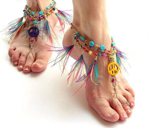 Peace,Barefoot,Sandals,with,Feather,Fringe,Anklet,fringe-sandals, barefoot-sandals, gypsy-shoes, feather-fringe, barefoot-jewelry, colorful-footwear, feather-anklet, fringe-tassel, tassel-sandals, peace, peace-barefoot-sandals