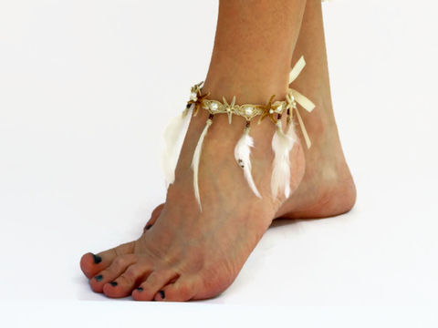 Tropical,Gypsy,Beach,Anklet,-,Starfish,and,Feathers,ankle-bracelet-starfish, feather-anklet, anklet, beach-anklet, footwear, foot-jewelry, starfish-anklet, natural-starfish, hemp-anklet, starfish-body-jewlery, feather-body-jewelry, feather-jewelry, starfish, hemp, feathers, beach, fringe-anklet,