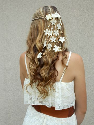 Beach,Faerie,Floral,Crown,seashell-headband, shell-hair-jewelry, hair-accessory, hemp-headband, hippie-headband, bridal-head-piece, beach-wedding-veil, floral-headcrown, flower-head-crown, starfish, shells, ivory