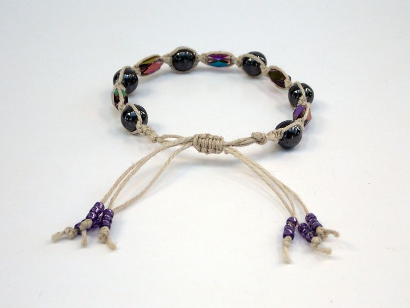 Purple Crystal Hematite Bracelet - product images  of
