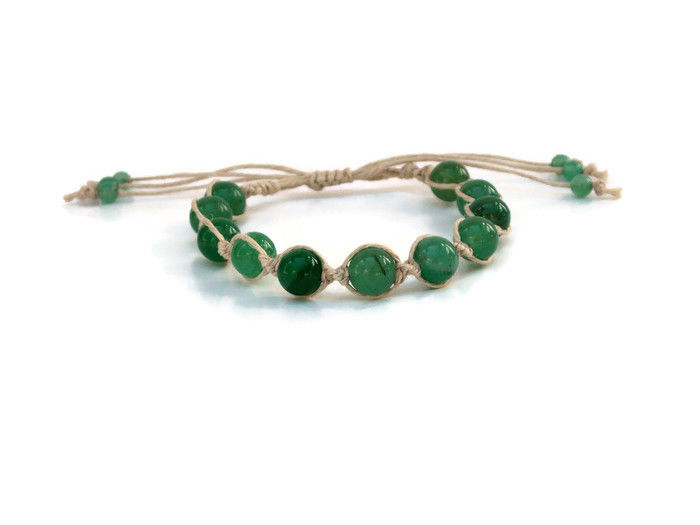 Green Aventurine Gemstone Bracelet - product images  of