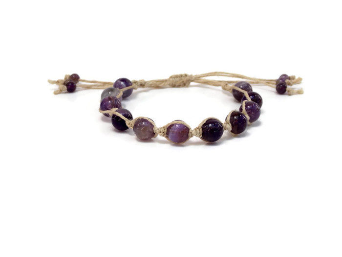 Amethyst Gemstone Mala Bracelet - product images  of
