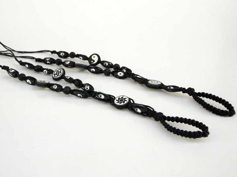 Evil Eye Men's Barefoot Sandals in Black Hemp - product images  of