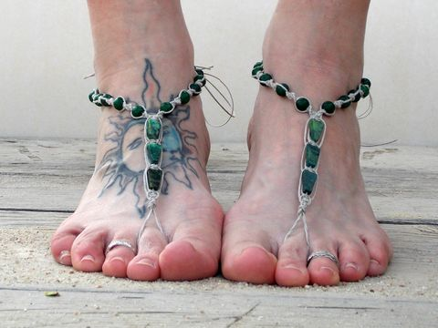 Green,serpentine,triangle,barefoot,sandals,,foot,jewelry,barefoot-sandals, foot-jewelry, green-barefoot-sandals, budget-barefoot-sandals, beach-footwear, beach-sandals