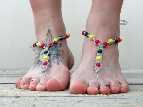 Rasta,Barefoot,Sandals,in,Natural,Hemp,,Unisex,rasta-barefoot-sandals, rasta-jewelry, red-yellow-green, men-barefoot-sandals, barefoot-jewelry, foot-jewelry, barefooter-sandals, sandals-barefoot-men, jewelry-men, hemp-jewelry