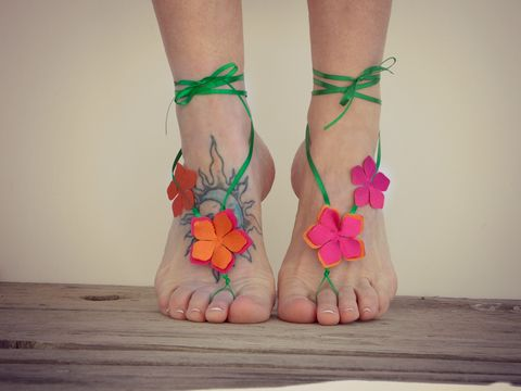 Luau,Flower,Barefoot,Sandals,party,favors,luau-party-favors, barefoot-sandals, flower-barefoot-sandals, beach-party-favors, beach-wedding-party-favor, luau-jewelry, tropical-barefoot-jewelry