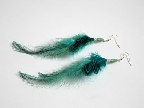 Teal,green,feather,earrings,,hemp,wrapped,teal-feather-earrings, long-feather-earrings, feather-earrings, green-feather-earrings, bohemian-earrings, boho-earrings, boho-feather-earrings