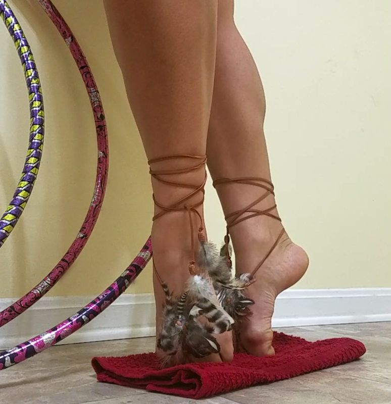 Gemstone Feather Barefoot Sandals - product images  of