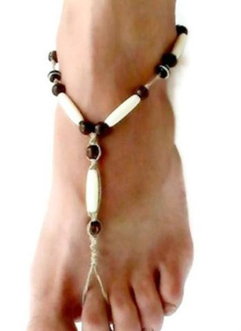Dirty,Hempie,Hairpipe,Barefoot,Sandals,Accessories, Men, beach_wedding, ankle_bracelet, organic, natural_brown,simulated_bone, unisex, barefoot_sandals,sandals_for_men,barefoot_jewelry,hippie_jewelry,foot_jewelry_for_men,barefoot,sandals,hemp,simulated_bone_beads,wooden_beads