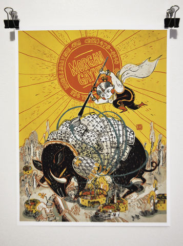 And,once,again,,the,day,is,saved!,Victo Ngai, openedition giclee print, superhero