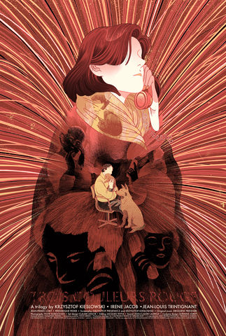 Rouge,white, blanc, blue, red, screenprint, poster, movie, Krzysztof, Kieślowski, threecolortrilogy, art, three, color, trilogy, love, beauty, victo, ngai, victongai, epic, limited, edition