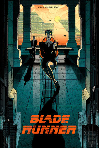 Blade,Runner,metallic, ink, details, bladerunner, blade, runner, 2049, ryan, Gosling, Denis, Villeneuve, white, blanc, blue, red, screenprint, poster, movie, Krzysztof, Kieślowski, threecolortrilogy, art, three, color, trilogy, love, beauty, victo, ngai, victongai, ep