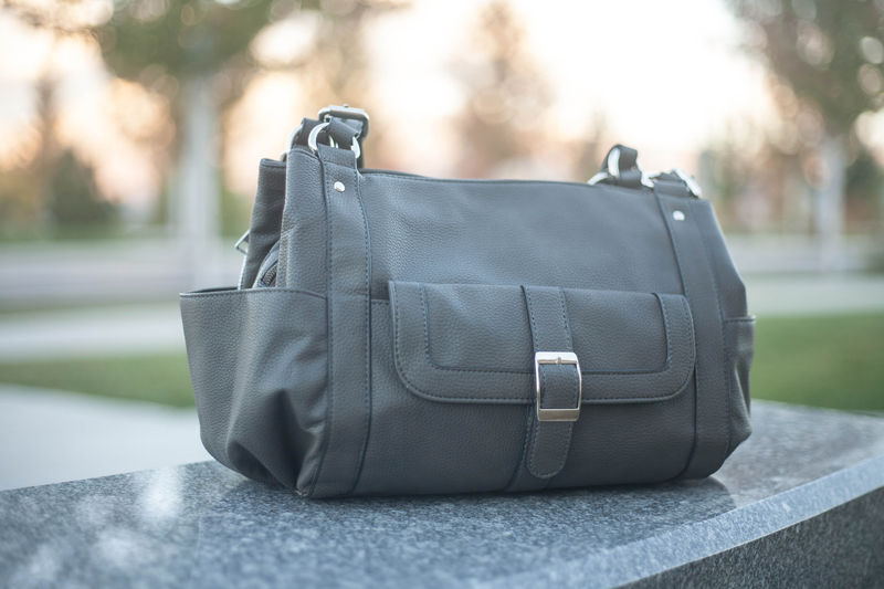 Addison Concealed Carry Purse in Gunmetal - product images  of