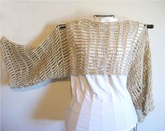 Crochet Pattern: Convertible Cropped Sweater/ Cowl/ Scarf Lace Shrug Up to 2X - product images 4 of 6