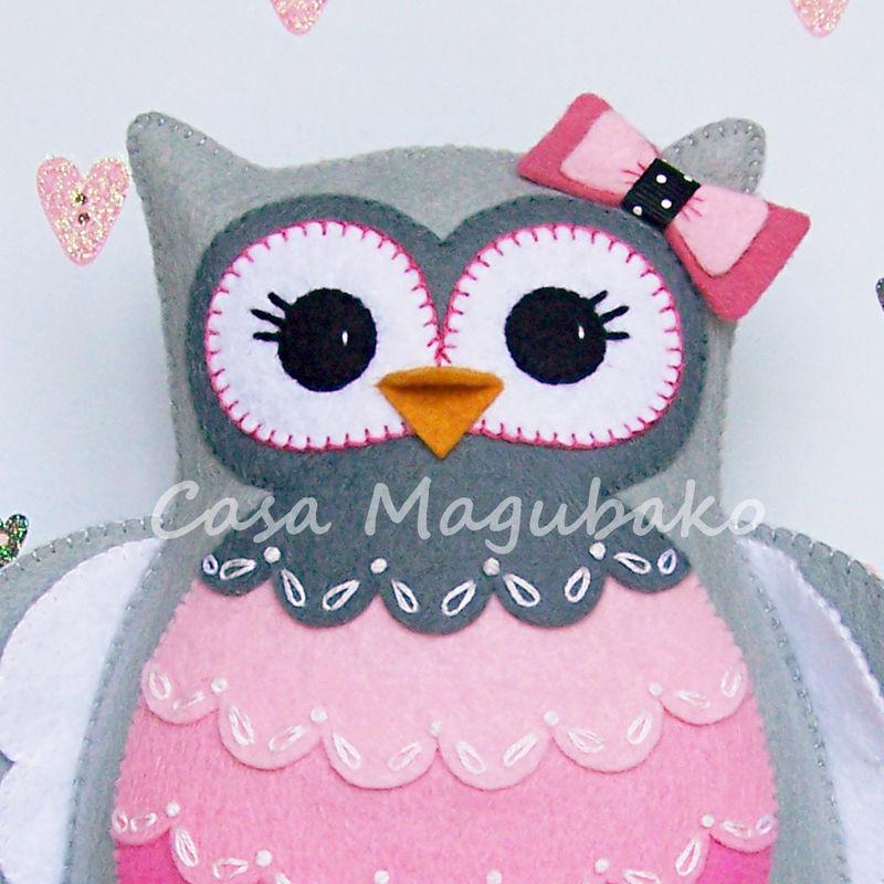 Felt Owl Pincushion Digital Pattern - PDF File - Owl Soft Toy - Owl ...