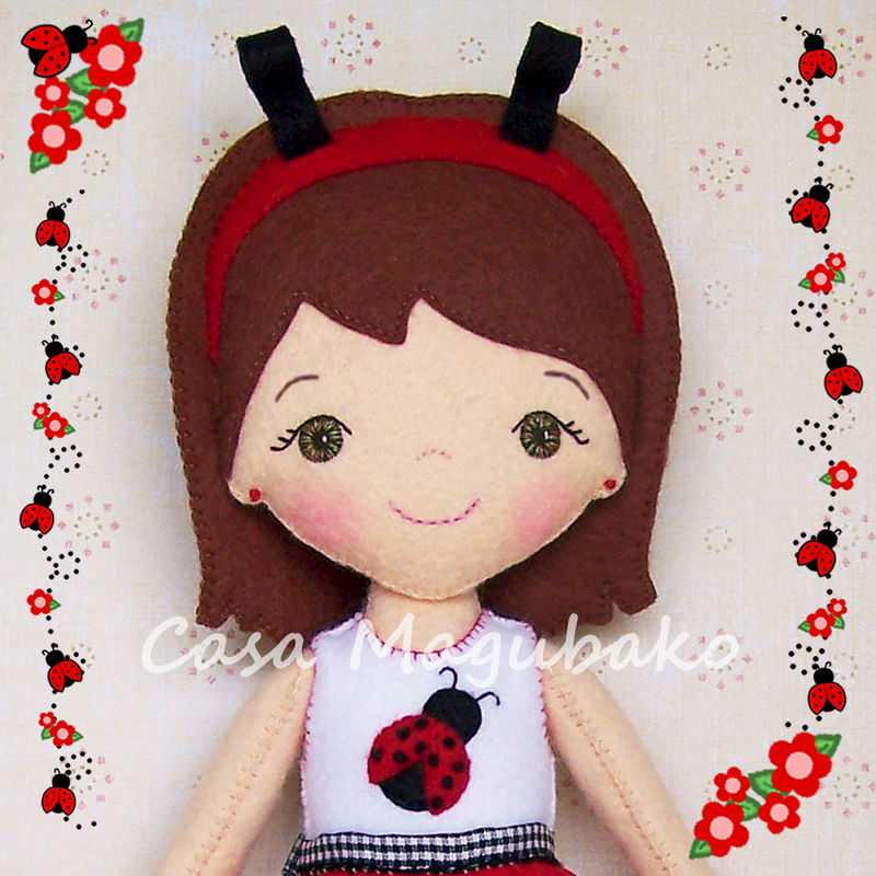 Ladybug Doll Digital Sewing Pattern - DIY Hand Stitched Doll - PDF File Tutorial - product images  of