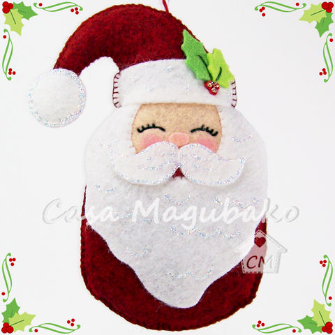 Santa,Ornament,Sewing,Tutorial,-,DIY,Hand,Stitched,Christmas,PDF,File,Pattern,felt Santa sewing pattern, sewing digital pattern, Santa Claus ornament tutorial, Santa pattern, Santa Claus templates, PDF File, sewing instructions, handstitched felt, Christmas ornaments DIY, felt Christmas, Santa soft toy, winter decoration, Navidad