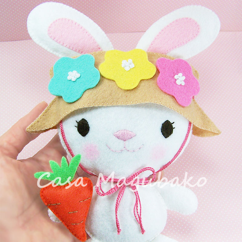 Bunny Ornament or Soft Toy Tutorial - Digital Sewing Pattern – 2 Sizes - PDF File  - product images  of