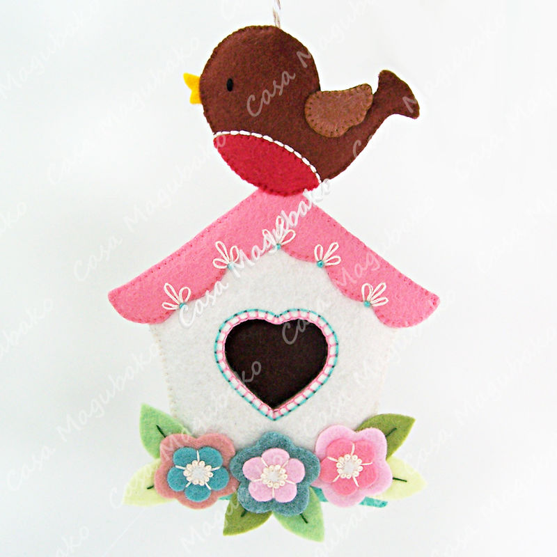 Bird on a Birdhouse Ornament - Digital Pattern – PDF File  - product images  of