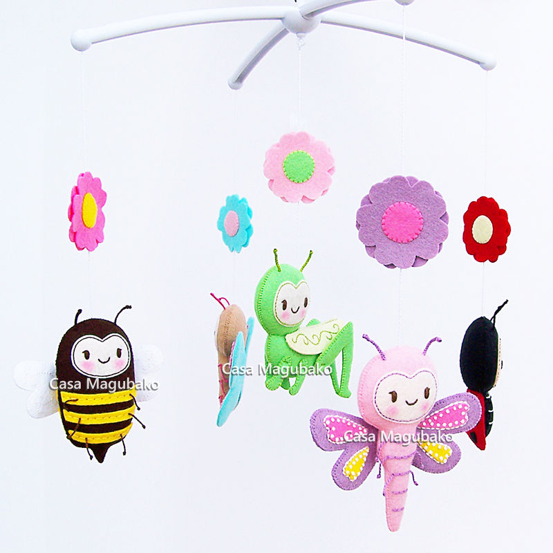 PDF Felt Pattern - Bug Collection: Ladybug, Dragonfly, Bee, Butterfly and Grasshopper + a Bonus Pattern - product images  of