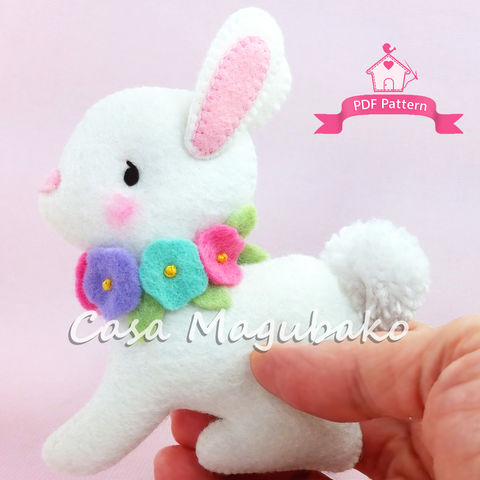 Bunny,Wall,Hanging:,A,PDF,Sewing,Pattern,-,Nursery,Mobile,DIY,bunny wall hanging, sewing pattern, stuffed bunny, nursery decor, nursery mobile, nursery wall hanging, felt pattern, felt bunny, Easter bunny