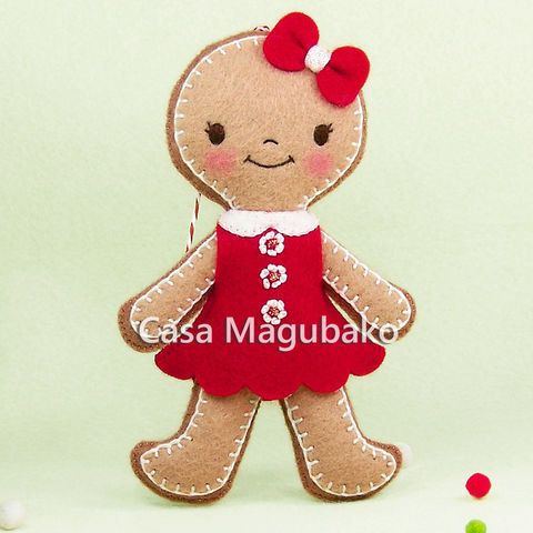 Girl,Gingerbread,Ornament,,Christmas,Tree,Decor,,Handmade,Winter,Decoration,,Wool,Rayon,Felt,girl gingerbread, gingerbread doll, felt gingerbread, Christmas, Christmas decoration, wool rayon felt, tree ornament, ornament, doll, gingerbread, handmade