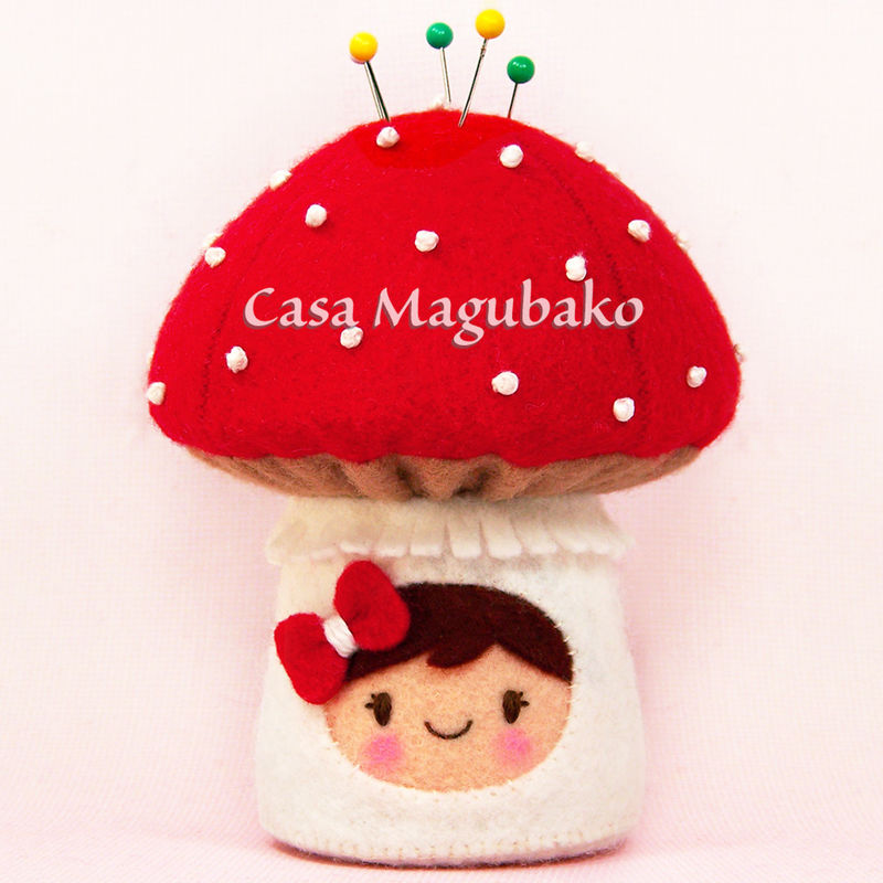 Toadstool Pincushion Felt Pattern, DIY Pincushion, Felt Mushroom, Woodland Toadstool, PDF Hand-Sewing Pattern/Tutorial - product images  of