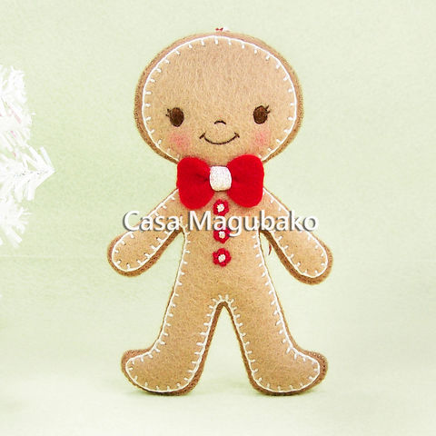 Boy,Gingerbread,Ornament,,Handmade,Man,,Christmas,Tree,Decor,,Winter,Decoration,,Wool,Rayon,Felt,boy gingerbread, gingerbread doll, gingerbread man, felt gingerbread, Christmas, Christmas decoration, wool rayon felt, tree ornament, ornament, doll, gingerbread, handmade