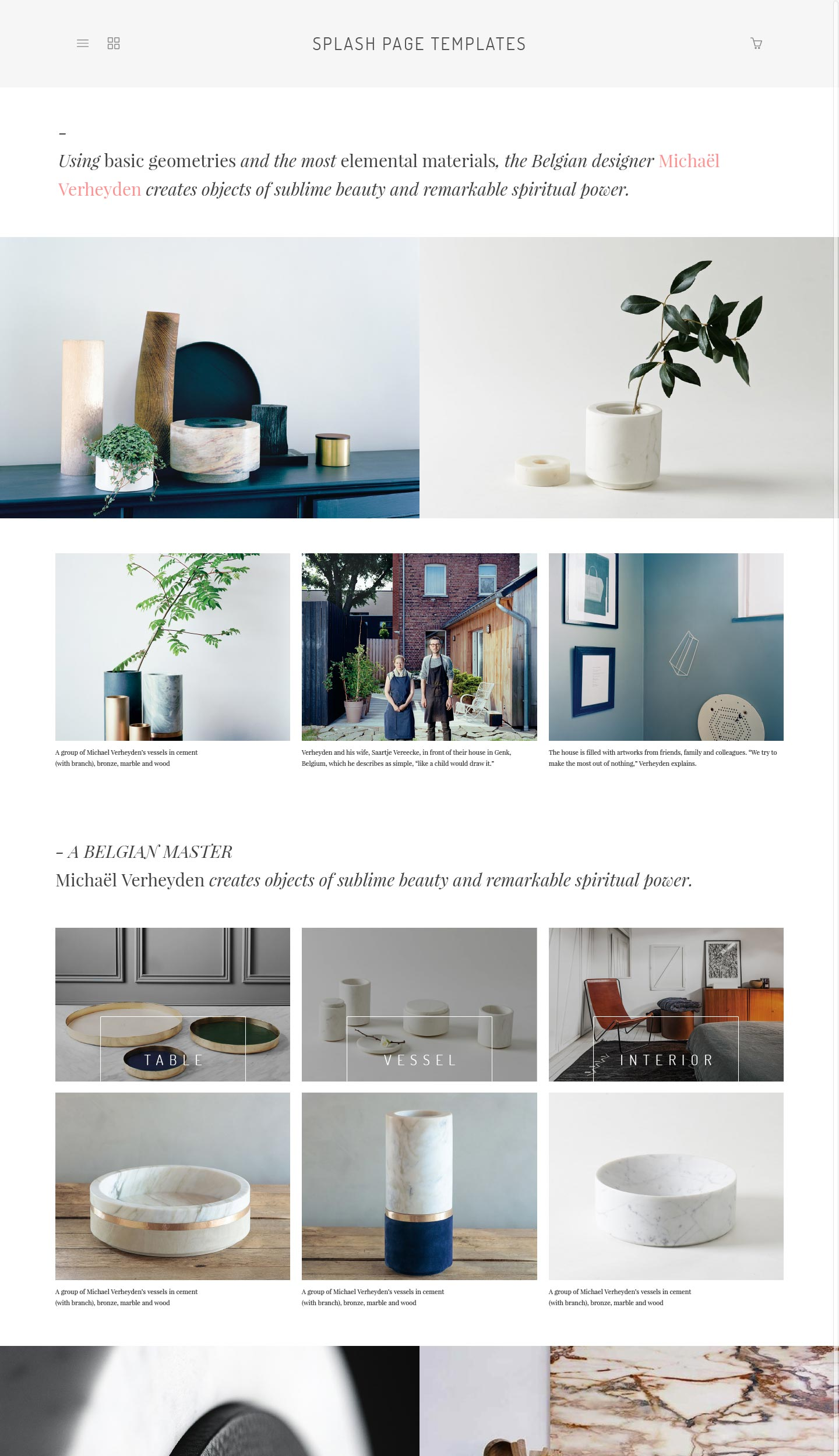 eCommerce home page template 1