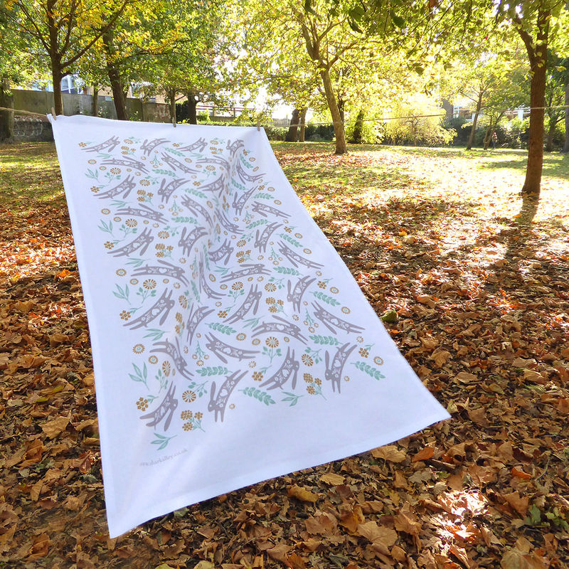 Luxury Hare Tea Towel - product images  of