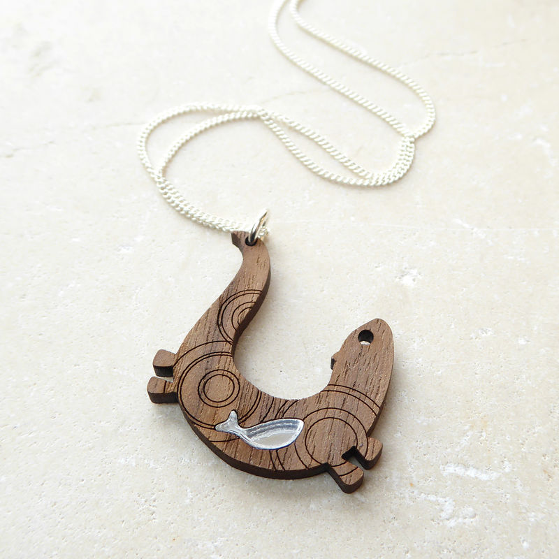 swimming otter pendant - product images  of