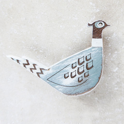 pheasant,brooch,(duck,egg),Hand Painted Jewellery, Laser Cut Bird Brooch, Bird Brooch, Pheasant Brooch, Bird Jewellery, Laser Cut Wooden Jewellery, Hand Painted Bird Brooch, Shark Alley Jewellery, Shark Alley Bird Brooch