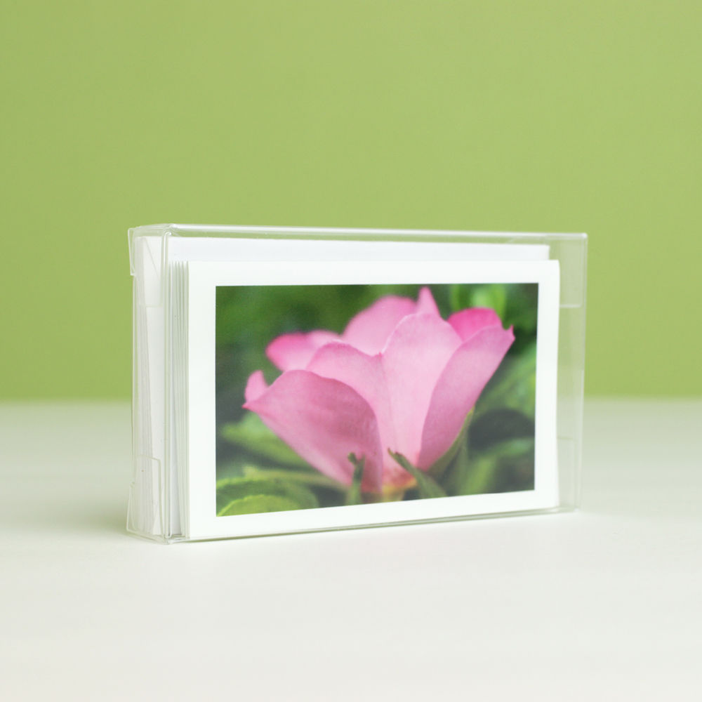 Pink Garden Flowers Photography Gift Enclosure Cards, boxed collection of 6 - product images  of
