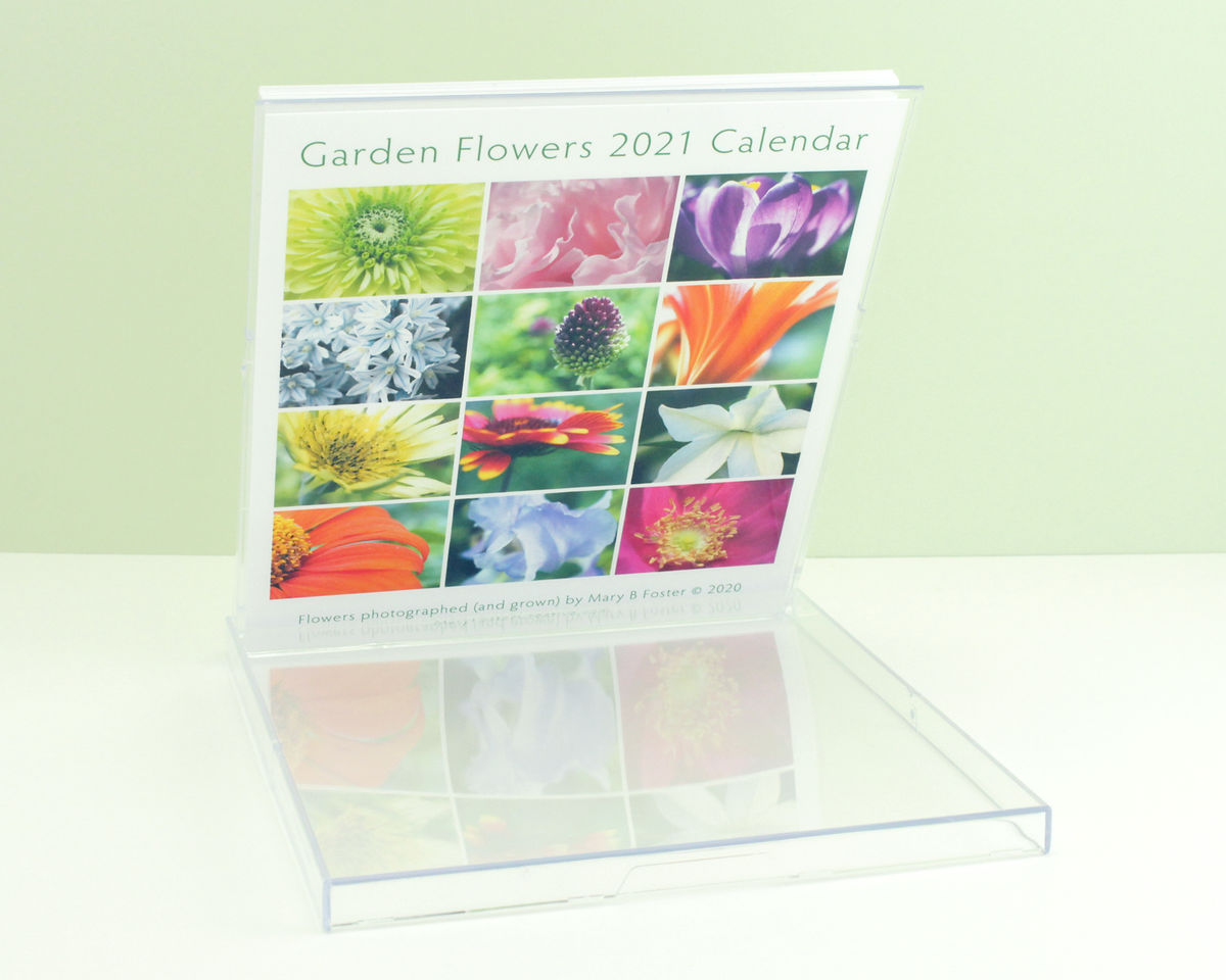 Garden Flowers Photography 2021 Desk Calendar with cd case easel stand - product images  of