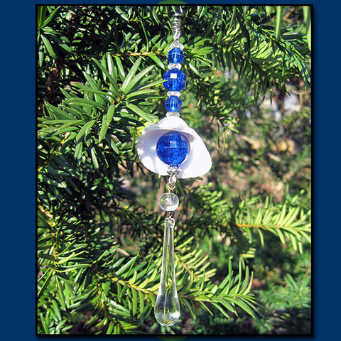 Blue,Eye,Catcher,Ornament,with,Raindrop,Crystal,eye catcher, prism, ornament, sun, stars, raindrop crystal
