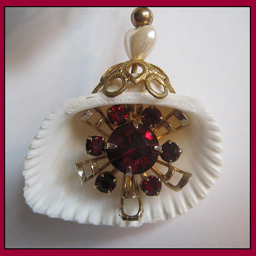 Ruby Red and Brass Eye Catcher For Lovers - product image