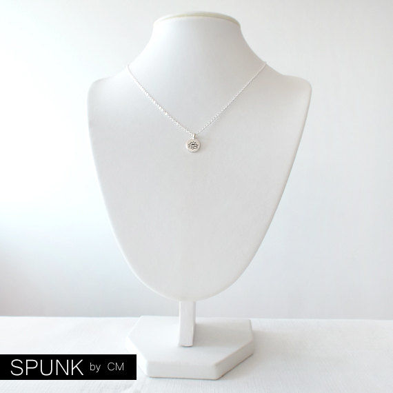 Minimalist Silver Chain Necklace - The Basics: Lotus - product images  of