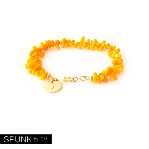 Shell,Gold,Bracelet,-,Personalized,Monogram,Initials,Coral,Orange,The,Oceania:,Spike,Jewelry,beach_wedding,gold_coral_bracelet,boho_jewelry,shell_bracelet,surfer_jewelry,beach_jewelry,personalized_jewelry,bridesmaid_bracelet,monogram_bracelet,jewelry_for_teens,orange_coral,spunkbycm_etsy,toronto_jewelry,brass,gold plated,nylon,co
